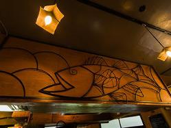 魚型のアイアンオブジェは「鱸」がモチーフ