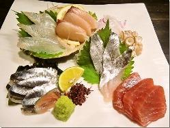 瀬戸内海で採れた新鮮魚介類