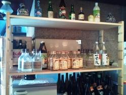 キープボトルが立ち並んでいます。