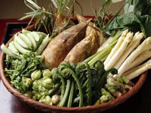 その時期一番美味しい 京食材と四季折々の野菜を使用。