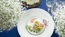お料理のテーマは、箸でも食べられる「フレンチ・ジャポネ」