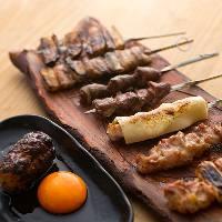 【焼鳥】 福岡の八女鶏をを店舗にて1本1本串打ちしてご提供