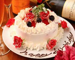 【記念日も当店で】 ホールケーキをご用意させていただきます!