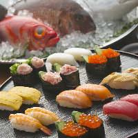 お寿司やお刺身、焼肉も!厳選食材を使用した170品が食べ放題
