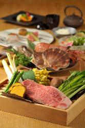 【お料理】 神戸の食材を生かした料理の数々。