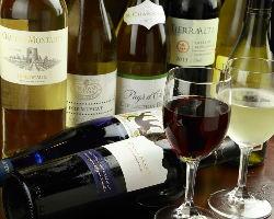 ドリンクの種類も豊富◎ワインやカクテルなど、多数ご用意!