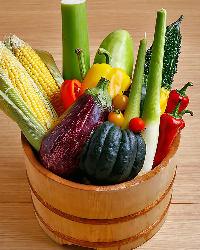 地元滋賀の野菜をはじめ、旬の野菜も豊富に揃います!