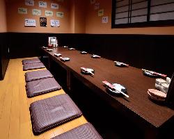 奥座敷の個室は9名様から12名様で 貸し切り出来ます!