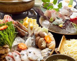 自慢の豪華海鮮入り海鮮ちゃんこ鍋コース