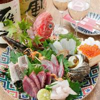 明石や神戸近郊で獲れた魚介類に舌鼓を。醤油も絶品ですよ♪