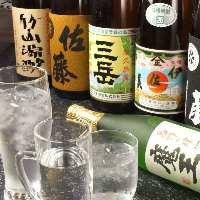 全国の地酒・焼酎も種類豊富に取り扱っております。