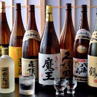 焼酎、日本酒、果実酒等、お酒も各種取り揃えております。