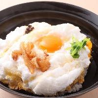 メレンゲ使用した極上のふわとろ 究極の親子丼『雪の桜島』