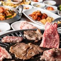 新登場!牛&豚の焼肉5種&選べる鍋×韓国定番料理コース