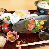 人気のステーキ御膳。海鮮だけでなく、お肉にも拘っています。