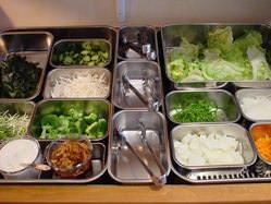 毎日新鮮な野菜をご用意しています