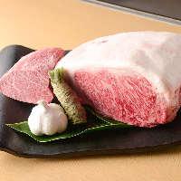 甘さすらも感じられる最高級和牛を鉄板焼きでご堪能ください