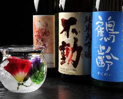 日本酒と魚の相性は抜群! お酒の出し方も超お洒落♪