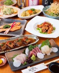 旬食材を使用した歓送迎会用コースは3,000円よりご用意♪