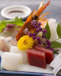 【鮮魚】 その日一番の鮮魚はお造りでお楽しみください