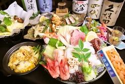 中央市場より毎朝仕入れた 旬の鮮魚を味わっていただけます。