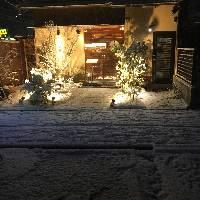 雪化粧のエントランス