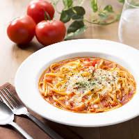 糸引きチーズのトマトパスタ