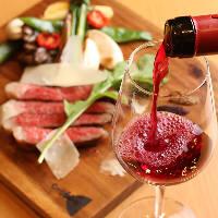 フランス・シャロレ牛を窯焼きステーキで。ワインに合います