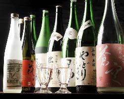 お飲み物を多数ご用意!伏見の地酒が飲みたいときは藤丸へ!!