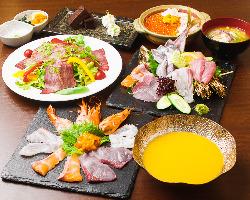北海道小鉢!一つの器で北海道の海の幸をお召し上がり頂けます♪