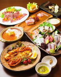 選べる4つの宴会コースは120分飲み放付き4,000円(税込)~
