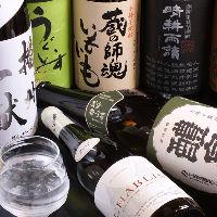 獺祭をはじめとした地酒や厳選焼酎・ワインなど多彩なドリンク