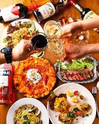 【女子会にも◎】 本格イタリアンと美味しいお酒で乾杯♪