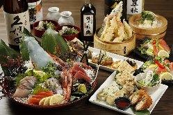 宴会は天ぷら海鮮をはじめボリュームたっぷり宴会コースをご用意