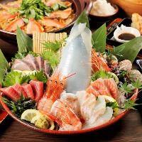 米福といえば天ぷらとともに豪快で新鮮な海鮮が自慢!