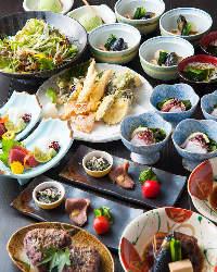 奈良地場産の食材を使った創作和食を堪能♪ お料理¥2.500〜◎