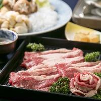 お肉のお代わり自由♪牛しゃぶ・すき焼きコース3,800円(税抜)