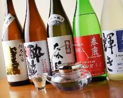 日本酒も多数取り揃えております
