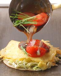 完熟トマトの甘みと酸味が美味しい!