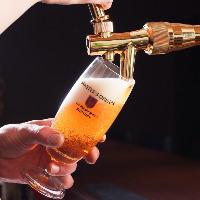 <ビールもこだわる>樽生達人の生ビールをご提供。