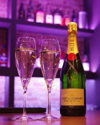 <特別な日も>記念日などの華やかな会にシャンパンがおすすめ。