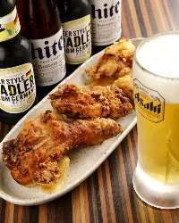 夏にはビールとチキンをお楽しみください☆