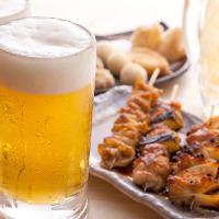仕事帰りは炉暖に決めた!大串の焼き鳥とビールで至福のひと時!