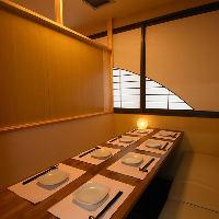 座席/テーブル個室完備!人数とシーンに合わせて柔軟に対応♪
