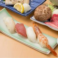 〆に嬉しいお寿司も技が光る美味しさです。