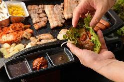 宴会コース飲み放題付4000円・サムギョプサルから大鍋スンドゥブ