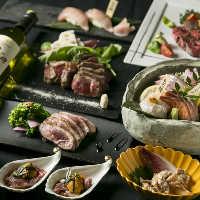 3,000円台から叶う、熟成魚&熟成肉を楽しむ飲み放題付コース