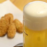 最初はやっぱりビールで乾杯♪シュワっと弾ける爽快ハイボールも