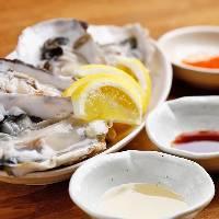 生牡蠣&焼き牡蠣を堪能『フィーバーセット』3,980円(税抜)