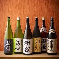 全国各地の酒蔵より、約20種の日本酒を常時取り揃えております!